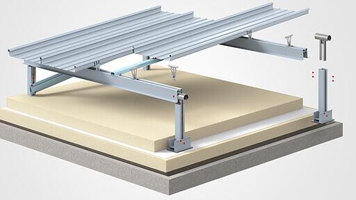 3D Visualisierung zeigt Montageanleitung einer Dachkonstruktion