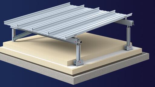 3D Visualisierung zeigt Schnittansicht einer Dachkonstruktion